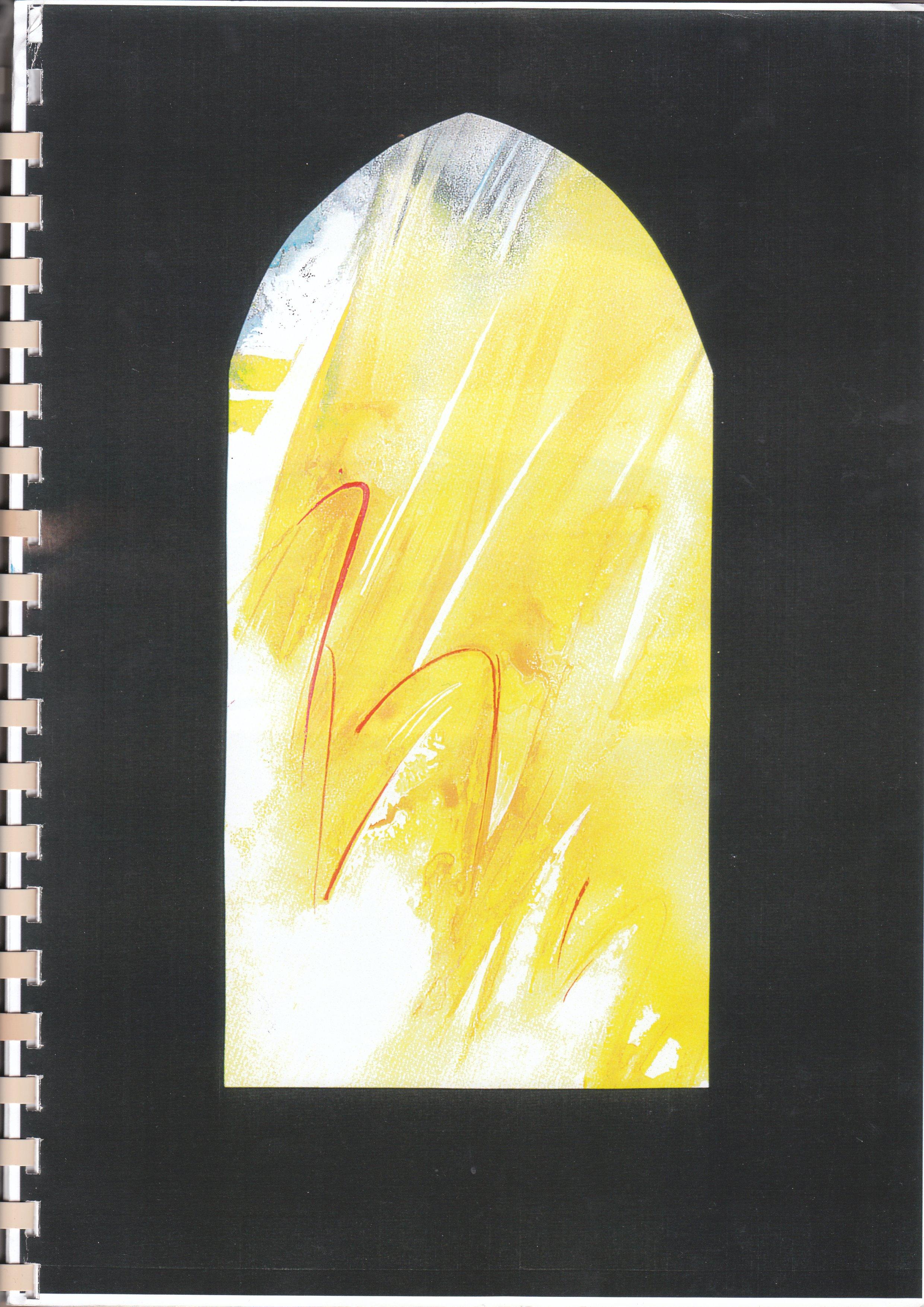 Glasfenster Entwurf 1