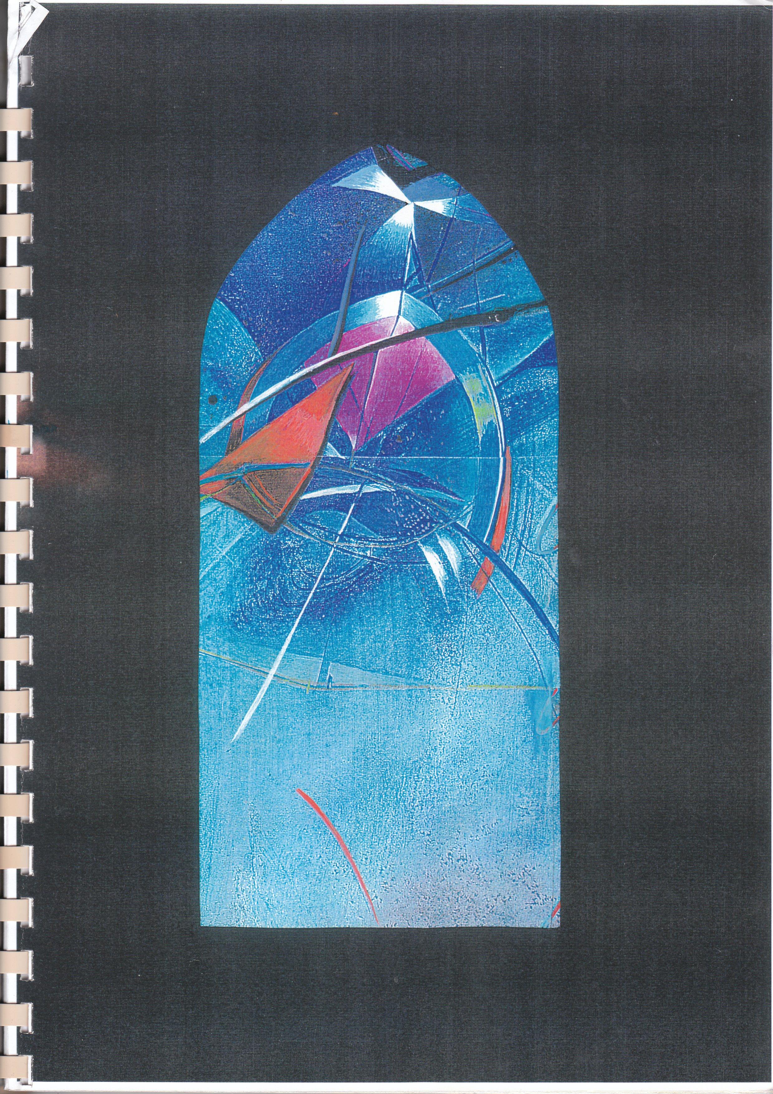 Glasfenster Entwurf 3